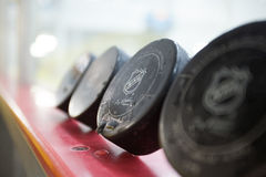 NHL Puck royalty free stock photography