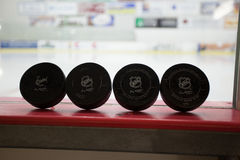 NHL Pucks Stock Images