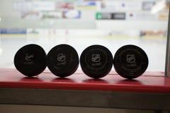 NHL Pucks Stock Images