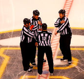 NHL Referees and Linesmen (Center Ice). Referees: Dave Jackson, Justin St. Pierre Royalty Free Stock Images