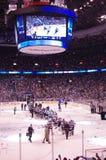 NHL San Jose Sharks a Vancouver Fotografia Stock Libera da Diritti