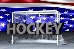 NHL text with helmet. And sky background Royalty Free Stock Photos