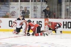 NHLers Mike Condon, Alex Burrows e Cory Schneider Foto de Stock Royalty Free