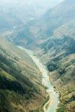 Nho阙河,河江市的,山领域在北越 免版税图库摄影
