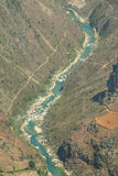 Nho阙河,河江市的,山领域在北越 免版税库存照片
