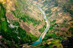 Nho Quế flod Arkivfoto