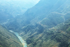 Nho Que river, at Ha Giang, mountain field in north Vietnam. Royalty Free Stock Photos