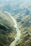 Nho Que river, at Ha Giang, mountain field in north Vietnam. Stock Image