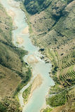 Nho Que river, at Ha Giang, mountain field in north Vietnam. Royalty Free Stock Image