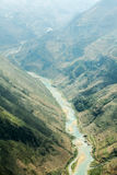 Nho Que river, at Ha Giang, mountain field in north Vietnam. Ha Giang is one of the six poorest provinces of Vietnam. Ha Giang is a famous tourist destination Royalty Free Stock Photography