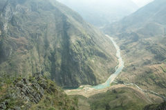 Nho Que river, at Ha Giang, mountain field in north Vietnam. Royalty Free Stock Images