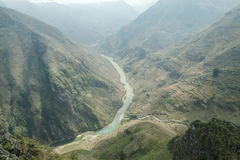 Nho Que river, at Ha Giang, mountain field in north Vietnam. Stock Photography
