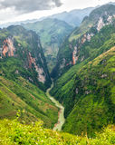 Nho Que River Valley, Dong Van, Ha Giang. The river splits as long 24km winding mountain. This is also the symbol of Ha Giang province, Vietnam Stock Photos