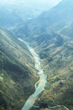 Nho Que rzeka przy brzęczeniami Giang, góry pole w północnym wietnamu Zdjęcie Stock