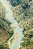 Nho Que rzeka przy brzęczeniami Giang, góry pole w północnym wietnamu Obraz Royalty Free