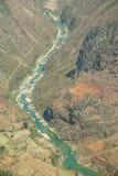 Nho Que rzeka przy brzęczeniami Giang, góry pole w północnym wietnamu Zdjęcia Stock
