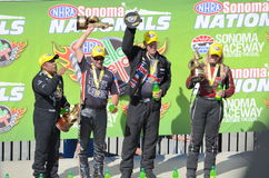 NHRA Sonoma Nationals Winners Stock Photo