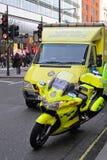 NHS救护车 免版税库存图片