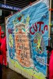 NHS dans la démonstration de crise, à Londres centrale, dans la protestation du sous-provisionnement et la privatisation dans NHS Images stock