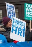 NHS dans la démonstration de crise, par Londres centrale, dans la protestation du sous-provisionnement et la privatisation dans N Photo libre de droits