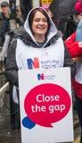 NHS dans la démonstration de crise, par Londres centrale, dans la protestation du sous-provisionnement et la privatisation dans N Images libres de droits