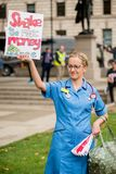 NHS - SCRAP THE CAP PROTEST Stock Photography