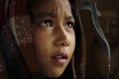 Niña de尼泊尔 库存图片