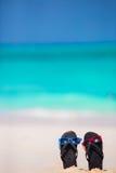 Niña adorable en la playa durante vacaciones de verano Fotografía de archivo libre de regalías