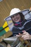 Niña - apicultor joven Fotografía de archivo libre de regalías