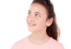 Niña bonita con los ojos azules Foto de archivo libre de regalías