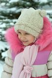 Niña bonita en invierno Imagen de archivo libre de regalías