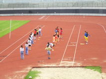 Niña china en el entrenamiento Foto de archivo libre de regalías