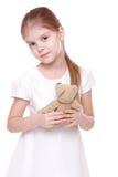 Niña con el oso del juguete Imágenes de archivo libres de regalías