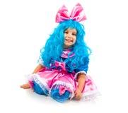 Niña con el pelo azul Foto de archivo libre de regalías