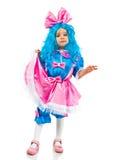 Niña con el pelo azul Fotografía de archivo libre de regalías