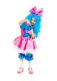 Niña con el pelo azul Fotos de archivo