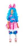 Niña con el pelo azul Imagenes de archivo