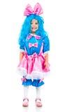Niña con el pelo azul Foto de archivo
