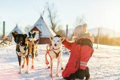 Niña con el perro fornido imagen de archivo libre de regalías