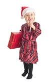 Niña con el regalo de Navidad Imagenes de archivo