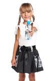 Niña con la botella de agua Imagenes de archivo