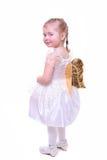 Niña con las alas del ángel Imagen de archivo libre de regalías