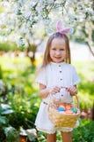 Niña con los huevos de Pascua Fotografía de archivo libre de regalías