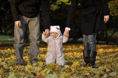 Niña con los padres Fotografía de archivo libre de regalías