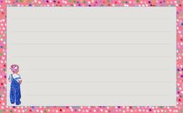 Niña del ` de la serie de la plantilla con el ` azul de la mezclilla, ` del confeti del ` de la variación Imagen de archivo libre de regalías