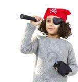 Niña del pirata Imagen de archivo libre de regalías