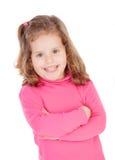 Niña en color de rosa Foto de archivo libre de regalías