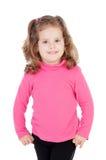 Niña en color de rosa Foto de archivo