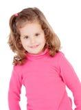 Niña en color de rosa Fotografía de archivo
