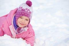 Niña en el invierno fotografía de archivo